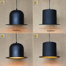 antique black hat pendant lamp for kitchen lights living dining room edison simple metal cap shade cover pendant light fixture hanging fixtures pendant