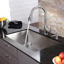 discontinued kraus 32 inch undermount single bowl 16 gauge stainless steel kitchen sink with kitchen
