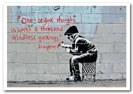 banksy one original thought is worth a prints posters on banksy wall art prints with one original thought is worth a banksy framed art giclee art print