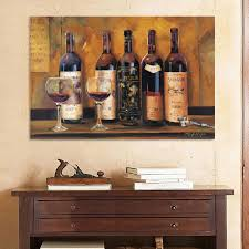 decor kitchen two framed glass wooden table dark brown red wine bottle placed canvas home decoration painting the living room office  on wooden wine bottle wall art with wall art toop ten gallery wine wall art wine metal wall art metal