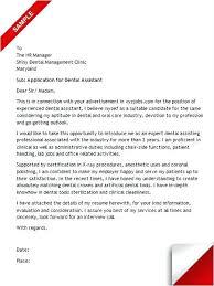 Cover Letters For Dental Assistant Dentist Resume Cover Letter Sample Dental Assistant The Best Images
