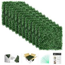flybold <b>Artificial</b> Boxwood Panels <b>Topiary Hedge Plant</b> UV Protected