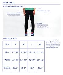 Mens Pants Size Chart Janji