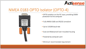 safely connecting nmea 0183 devices or a nmea 2000 network to a GPS with NMEA 0183 Output about the actisense opto 4