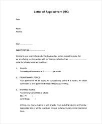 Appointment Letters In Doc Amazing 48 Appointment Letter Examples Samples PDF DOC