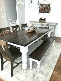 farmhouse kitchen table with bench modern farmhouse dining table photo 1 of 9 farmhouse table with bench and chairs 1 custom modern farmhouse dining table