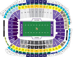 Us Bank Seating Chart Breakdown Of The U S Bank Stadium Seating Chart Minnesota