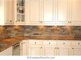 White cabinets with stone tile backsplash often pictured with lighter, stone-look/granite  counters. Pictures Of Stacked Stone Backsplash - Kitchen ...
