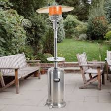 Patio heater Free Standing New Deluxe Stainless Steel Patio Heater And Stainless Steel Table For Patio Heater Ghp Group Inc Patio Heaters Ghp Group Inc