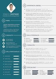 Plantilla Curriculum Vitae Cv Ignacio Santiago Modelos