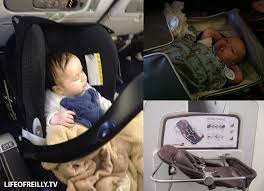 diffe airlines have varying facilities for kids left samantha in her own car seat