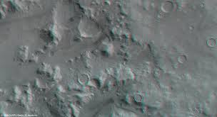<b>Anaglyph</b> image of Nereidum Montes (section) - DLR Portal