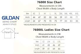 Gildan Size Chart Pants Gildan Premium Cotton Adult T Shirts 76000