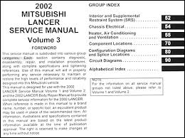 2002 mitsubishi lancer wiring diagram 2002 image 2002 mitsubishi lancer repair shop manual original 3 vol set on 2002 mitsubishi lancer wiring diagram