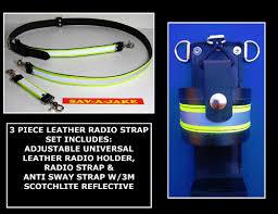 motorola 4000 radio. firefighter leather radio strap set 3m triple yellow reflective motorola ht1250, apx 4000, xpr 7000, 4000