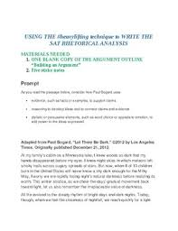 examples of rhetorical essays rhetorical analysis essay at  heavylifting sat rhetorical analysis system by heavylifting tpt examples of rhetorical essays