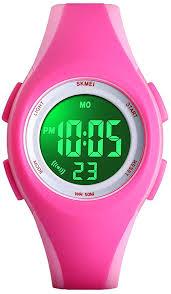 PASNEW Kids Watch <b>Colorful</b> LED Backlight Sports <b>Waterproof</b> ...