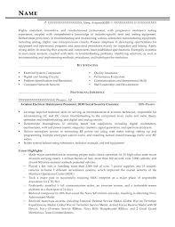 Military Resume Examples For Civilian Amazing Military To Civilian Resume Examples Aviation Electrical Maintenance