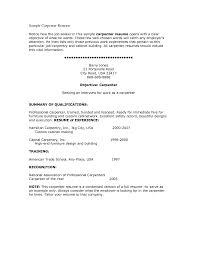 Sample Construction Carpenter Resume Resumes Yun56 Co Finish