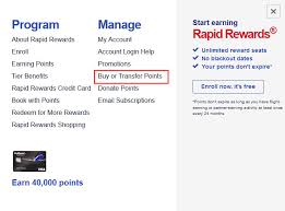 Southwest Rapid Rewards Points Chart How To Buy Southwest Rapid Rewards Points Step By Step