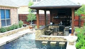 Backyard Designs With Pool And Outdoor Kitchen Stunning Outdoor Kitchen Rustic Me With Regard To Build Your Own Decor Kits
