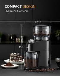 This is not a high end grinder and so it lacks a lot of features. Shardor Coffee Grinder