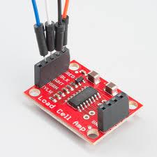 load cell amplifier hx711 breakout hookup guide retired learn strain gauge load cell hooked up to sparkfun s hx711 amplifier breakout board