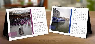 free indesign desk calendar template