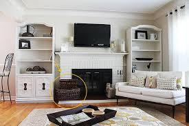 ... Living Room Organization Ideas Toy Storage Baskets Rattan Design  Materials With Elegant Design Stylish Neutral Color ...