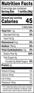 recipe tortilla carbohydrate amount 7 mission fajita carb balance