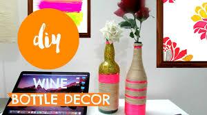 Bottle Decoration With Wool DIY ✂ Yarn wrapped BOTTLE VASERoom DECOR Pin YouTube 2