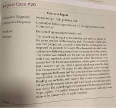surgical case 20 preoperative