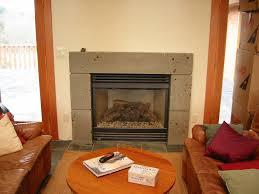 cast concrete fireplace surround
