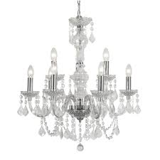 marie therese large crystal 9 light chandelier