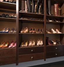 shoe storage in the closet