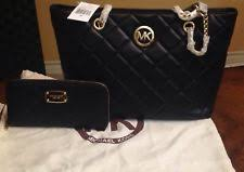 Michael Kors Fulton Quilted | eBay & Fulton Quilt Tote Michael Kors Genuine Leather Black With Wallet Adamdwight.com