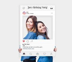 custom printed social media selfie frames