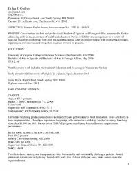 English Resume Example Interesting Resume Samples UVA Career Center