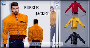 Sims 2 Designer Clothes Downloads Mod The Sims Bubble Jacket For Males