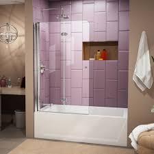 dreamline aqua fold 36 x 58 hinged frameless tub door reviews interesting as well 18