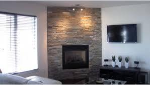 interesting image of interior decoration using ledge stone fireplace surround inspiring image of living room
