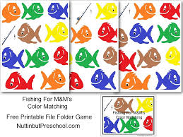 Mm Color Matching Fish File Folder Game Nuttin But Preschool
