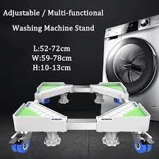 Ayarlanabilir çamaşır makinesi buzdolabı standı taşınabilir kurutma makinesi  standı rulo kaide tabanı kilitleme tekerler tekerlekler TV Mount