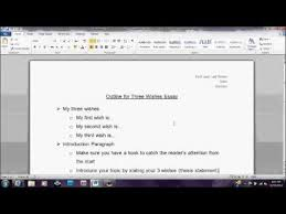 outline for wishes essay th grade  outline for 3 wishes essay 8th grade