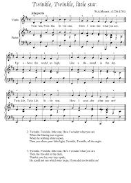 Twinkle Twinkle Little Star Recorder Finger Chart Twinkle Twinkle Little Star Piano Sheet Music Guitar Chords