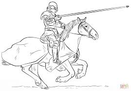 Small Picture Knight on Horse coloring page Free Printable Coloring Pages
