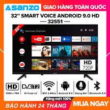 Smart Voice Tivi Asanzo 32 inch HD - Model 32S51 Android 9.0 - 4.390.000đ -  THƯƠNG HIỆU CHẤT LƯỢNG VIP