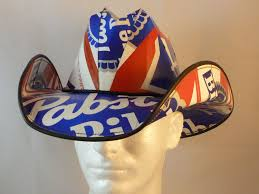 Bud Light Box Cowboy Hat Beer Box Cowboy Hats Made From Recycled Pabst Blue Ribbon