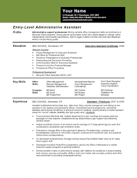 Entry Level Admin Resume Administrative Assistant Resume Sample Resume Samples 9