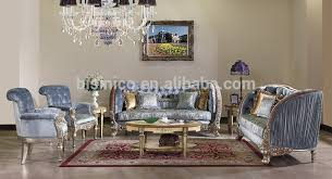 luxury gold painting sofa set classical hand carved wooden sofa living room furniture